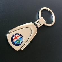 1pcs Metal Car Keychain Key Ring Keyring For Alfa Romeo 159 147 156 Giulietta Mito Spider GT Key holder Car-styling Accessories auto key case for benz renault mazda alfa romeo lexus logo cowhide keychain badge key ring emblem key holder chain yongxun