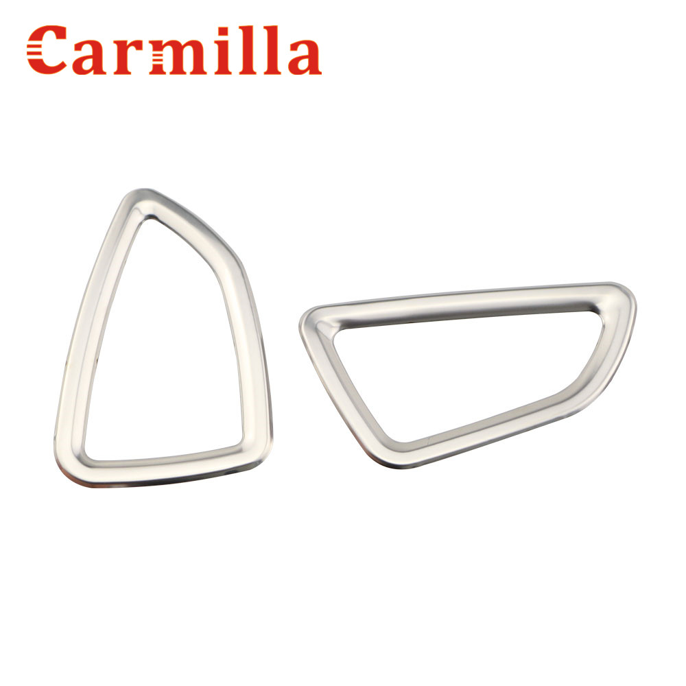 Carmilla 2X Car-Styling Front Air Vent Trim Air Vent Outlet Cover Sticker for Hyundai Tucson 2015 2016 2017 Aksesorë makinash
