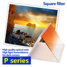Zomei Square 95*83mm Graduated Blue Color Gradient Orange Filter For Cokin P Series Pro.