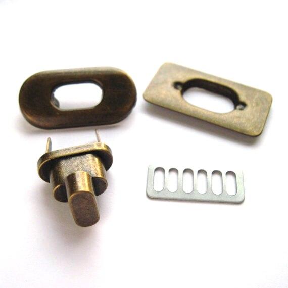35mm X 20mm Antique Brass Turn Locks