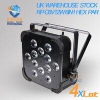 4X LOT UK Warehouse 12*15W Wireless DMX LED Flat Par Can RGBAW Color LED Slim Par Light DMX Stage Light NO Import Tax to EU