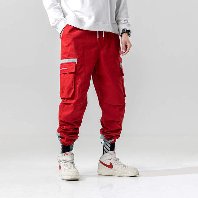 Japanese Hip Hop Street wear Cargo Pants Sweatpants Fashion
