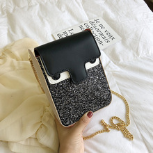 Crossbody Bags For Women 2019 High Quality PU Leather Luxury Handbags Designer Sac Ladies Sequin Chain Shoulder Messenger Bag