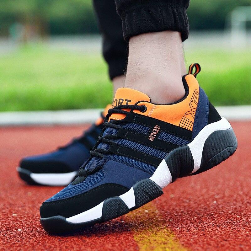 Novos homens correndo sapatos calçados esportivos para os homens sapatos de amortecimento respirável ginásio esporte masculino tênis dos homens 38-47