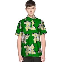 Vestido de los hombres de Dashiki de la manera del verano África Impresión de la ropa Camisetas de la manga corta Camiseta del hombre Diseño del estilo de África Traje festivo de la danza