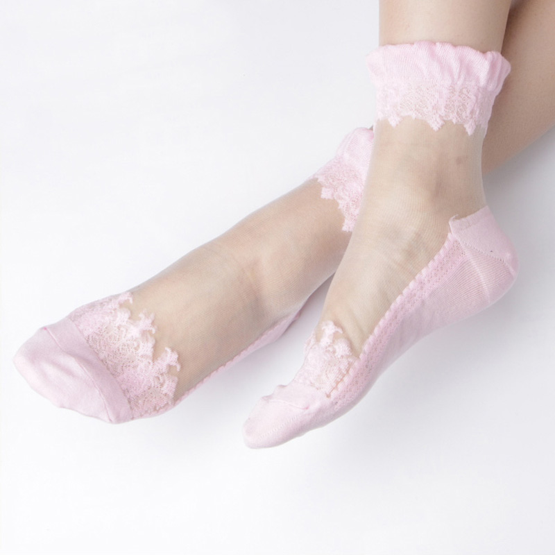 Nest 5 Pairs/Lot Women Crystal   socks   Fashion Sexy Cool Breathable Women Set   Socks   Beautiful Women   socks