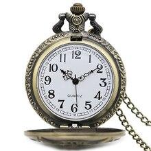Men Women Steampunk Vintage Fire Fighter Necklace Pendant Quartz Pocket Watch