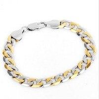 AAE82 21CM Width 1CM 316L Stainless Steel Gold & Silver Plated Bracelet Jewlery Men Gift Jewelry ,Fahion, modern, wholesale