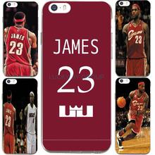 For IPhone 7 7Plus 4 5S SE 6 6S Case Design For NBA Super Stars James Jersey Transparent Silicone soft slim Tpu Phone Cover