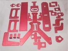 Reprap Mendel Max 2.0 red color complete aluminum plates set/kit(drilled & bended) DIY MendelMax 2.0 3D printer parts