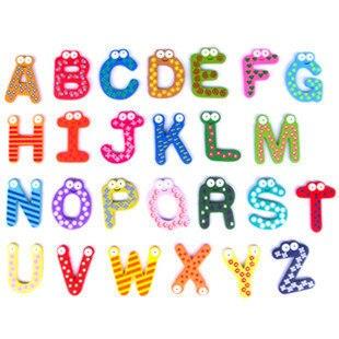 Бесплатная доставка письмо холодильник наклейки письма обучения поставки учебных пособий 26 шт. пакет английские буквы магниты на холодиль...