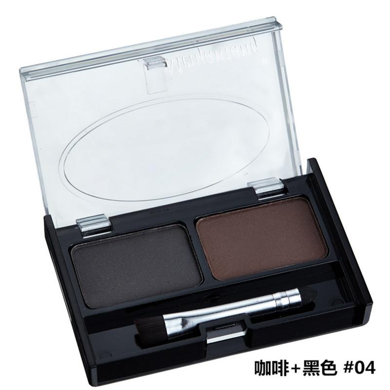 Professional Eye Brow Makeup 2 Color Shadow brow Powder With Brush brow Cake Dark Brown Make Up Palette Set Kit New 4