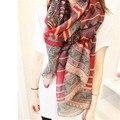 Nueva Moda de Las Mujeres de Impresión Larga de la Bufanda Del Mantón de Las Señoras de La Muchacha Grande Bastante Bufanda Tole Belleza Playa TC0624