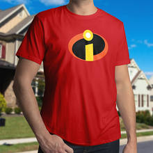 The Incredibles Mr Logo Symbol Superhero Costume Men Unisex CrewNeck Tee T-Shirt(China)