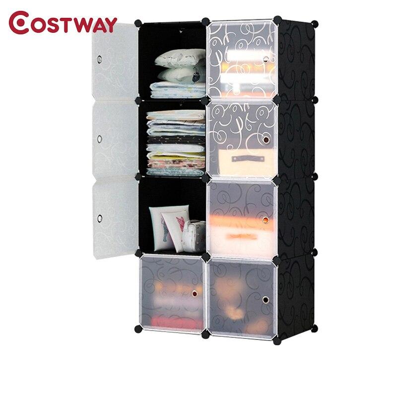 Plastic Portable Folding Wardrobe for clothes Assembled Closet Storage Cabinet Organizer Bedroom Home Furniture armario ropero