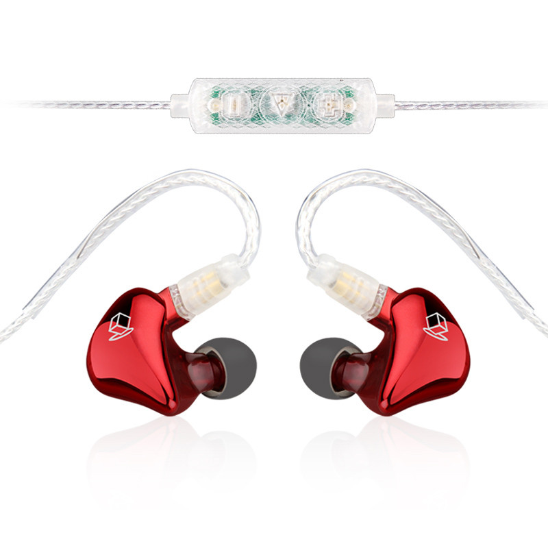 ФОТО High Quality Dual Driver Earphones In Ear Monitor HIFI Earbuds Bass Noise Cancelling Mp3 Professional 3.5 Wired Headset NAOI RX1