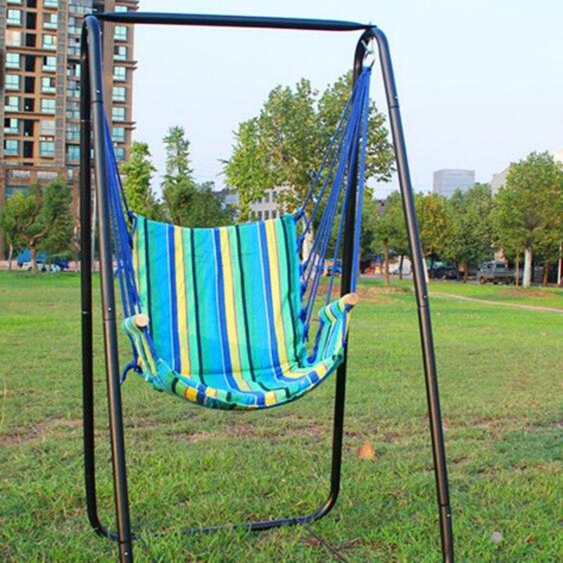 Boutique plage hamacs jardin Camping voyage balançoire mobilier d'extérieur chaise suspendue pour noël cadeau coton avec éponge
