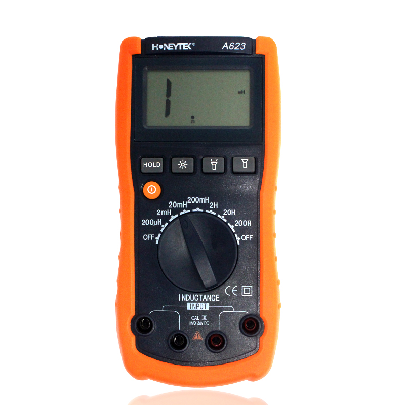 inductance meter,for electronic laboratory production line Maintenance tool Inductance tester Digital multimeter free shipping high precision digital capacitance inductance meter auto ranging component tester 500kh lc rc oscillation inductance multimeter