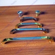 Одно отверстие/64 мм/96 мм/128 мм/160 мм Серебристый цвет Золотой цвет сплава цинка мебель ручка ящик шкафа на одно отверстие ручки