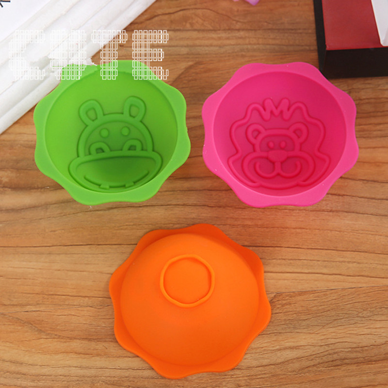 5Set Jungle Animal Silicone Chocolate Mold Maker Muffin 3D Handmade DIY Safty Kids jelly Leo Shape Tool Party/Birthday/Kitchen