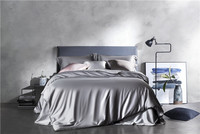 New 4Pcs Silver Grey solid color Egyptian cotton bedding set queen king bed set duvet cover bed sheet set pillowcase