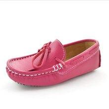 7d2eee2e Nuevos mocasines de Primavera/otoño para niños planos de cuero genuino  suave para niños zapatos de vestir para niñas bebé niño e.