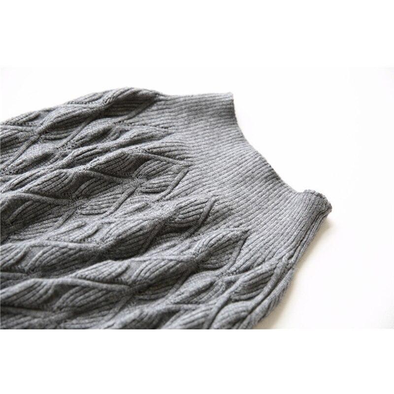 Fincati Falda Mujeres Alta Las Elástico Otoño Señora Gruesa gris Punto Colores Negro Elegante Invierno 2017 Vendimia Femme Sirena La Trompeta De Sólido ngBpwx5Br