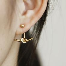 2016 fashion lady knot twisted stud earrings