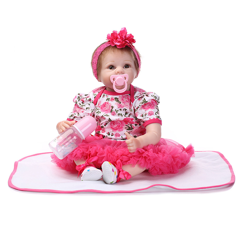 cute fahion reborn baby doll 55cm 22 inch baby reborn doll baby cute baby gift house hot toys. Black Bedroom Furniture Sets. Home Design Ideas