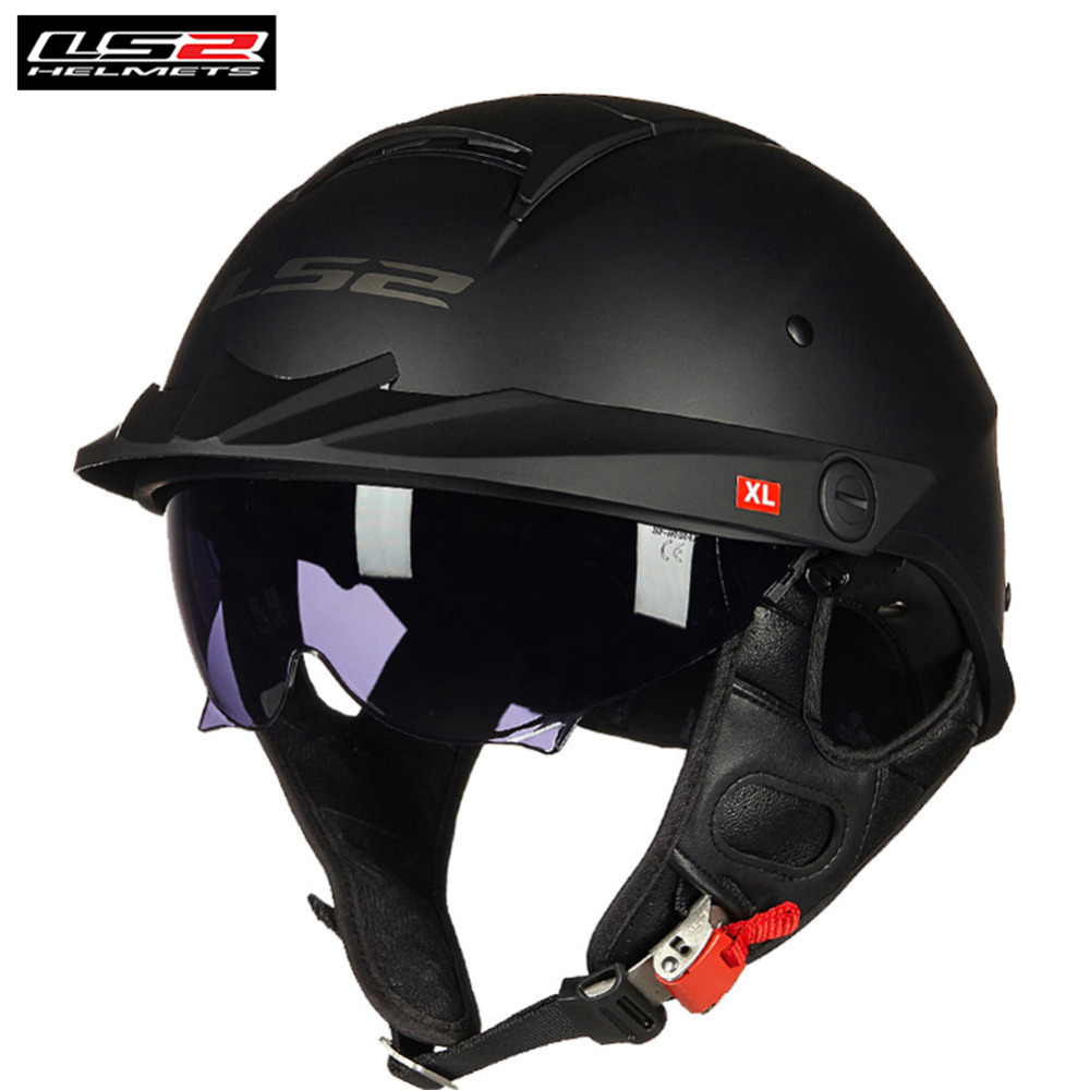 LS2 Rebellion Half Helmet Motorcycle Helmet Scooter Open Face Casque Casco Capacete Moto Helmets HH590 For Vespa Helm Kask Motor все цены