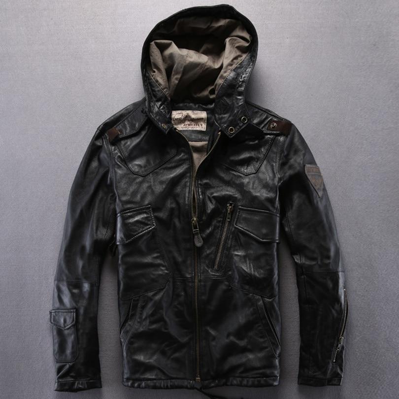 Online Get Cheap Brown Leather Jacket Hood -Aliexpress.com ...