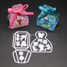 Glita Creatif 3D bag metal cutting dies for DIY scrapbooking paper craft card making decorative KIDS BIRTHDAY party new die cut