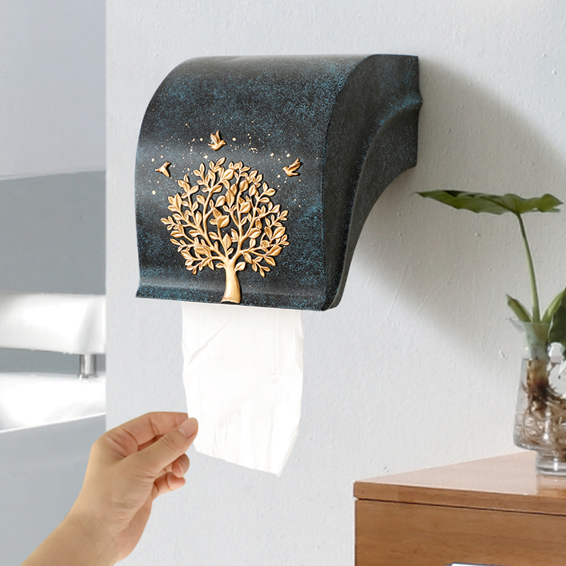 Toilet Paper Holder Creative on Wall Bathroom WC Toliet Tissue Rolls Hanging Vintage Box Decor With Phone