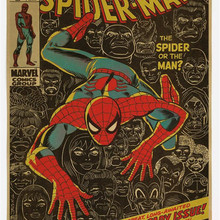 póster spiderman RETRO VINTAGE