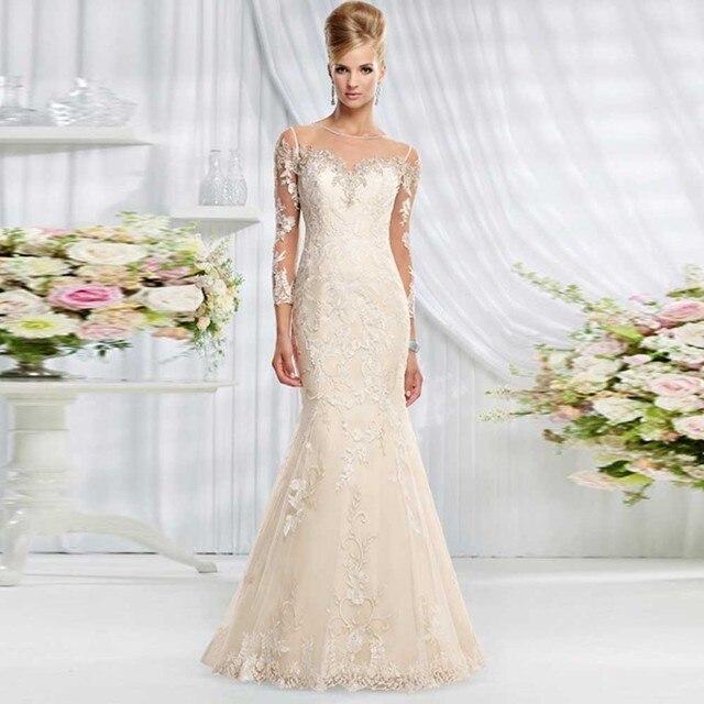 Classic Long Sleeve Mermaid Wedding Dresses