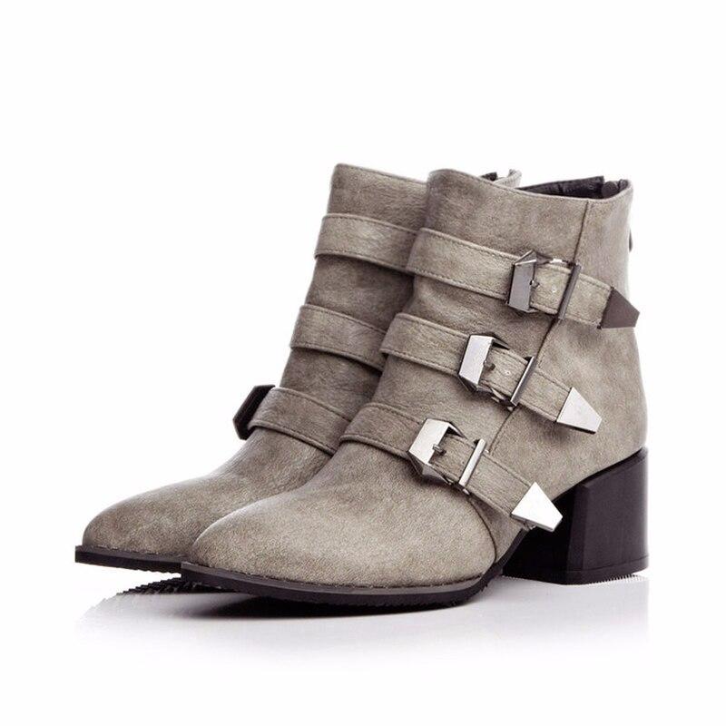 Für herbst Stiefeletten Frauen Schuhe Fansion Frau brown grau Casual Schwarzes Erwachsene Frühling Bg1xqg