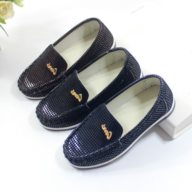 Children Loafers 2018 Spring Autumn NEW ARRIVAL Boys Leather Shoes Baby Shoes Kids Wedding Prom Party Shoes On a Boy A04065