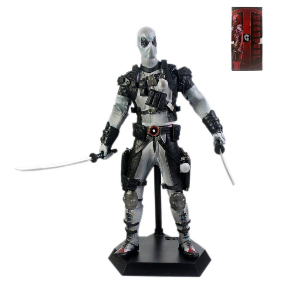 x men deadpool super warrior pvc action figures collectible model toys 36cm kt1979 Crazy Toys X-Men Deadpool Gray Suit PVC Action Figure Collectible Model Toy 12 CT001028