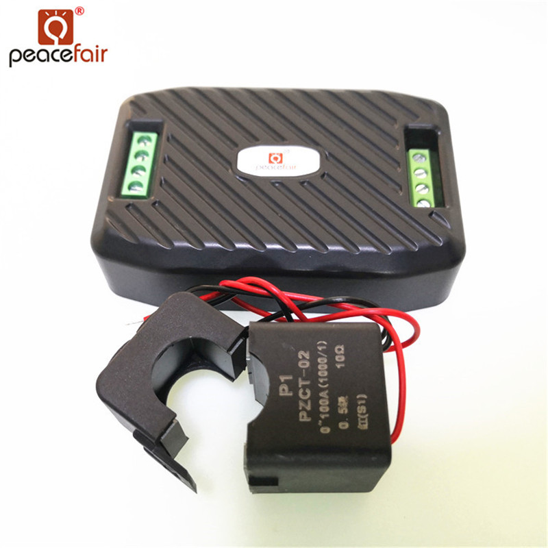 Peacefair Newest AC Power Meter Energy Meter 220V 100A RS485 Modbus Electricity Kwh Meter for Homekit PZEM-016 With Split CT