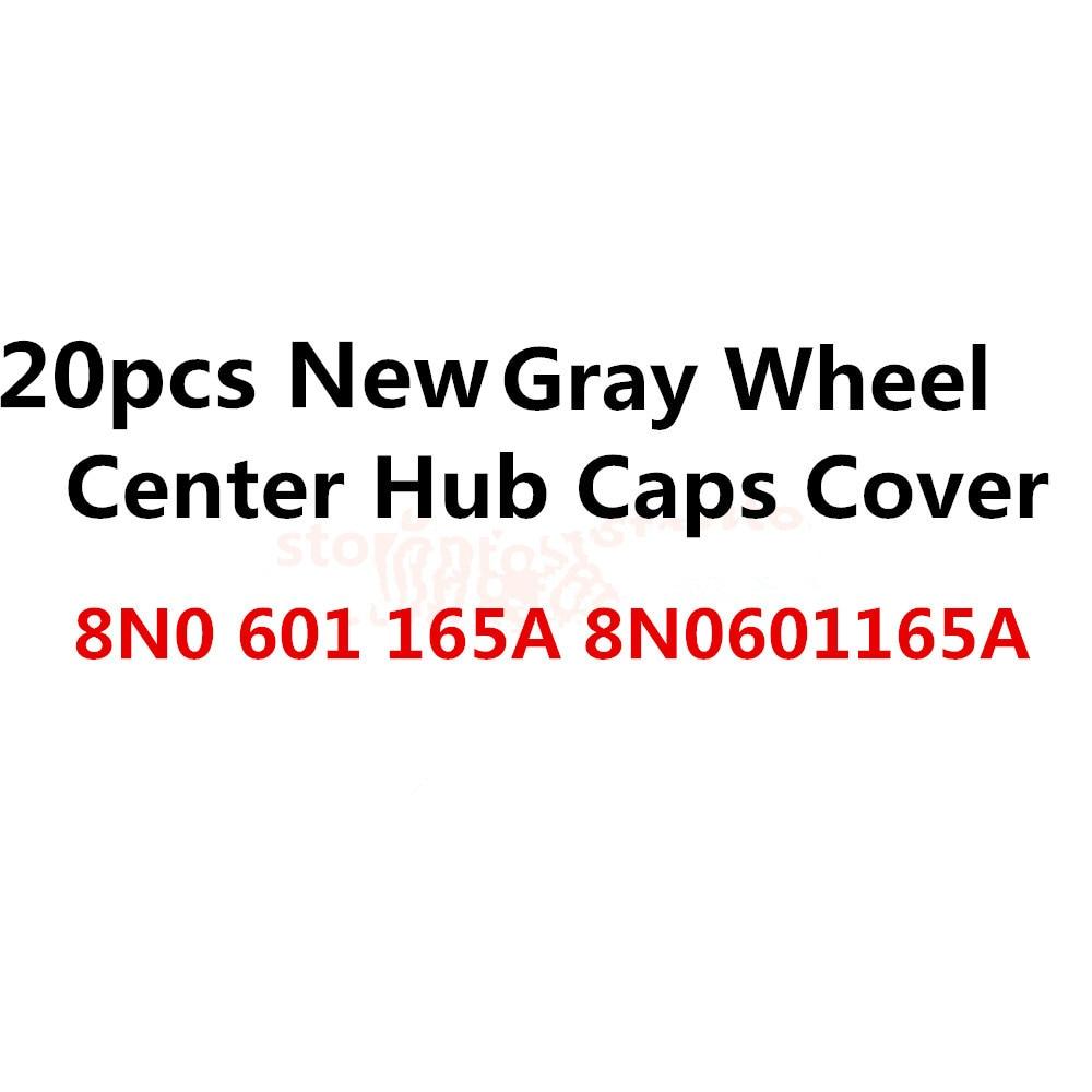20x Free Shipping Car Gray Wheel Center Hub Cap Fits For 8N0 601 165 A 8N0601165A