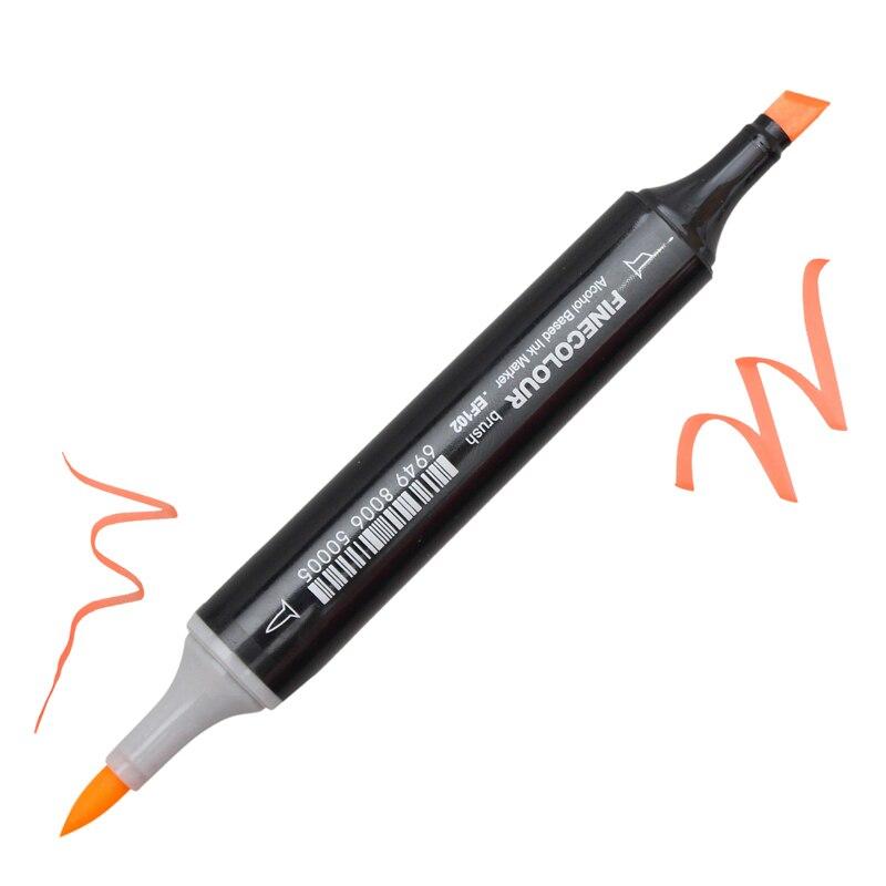 Finecolour 36/48/60/72 색 스케치 마커 애니메이션 펜 세트 학교 학생 디자인 그리기 브러시 마커 아트 용품-에서아트 마커부터 사무실 & 학교 용품 의  그룹 3