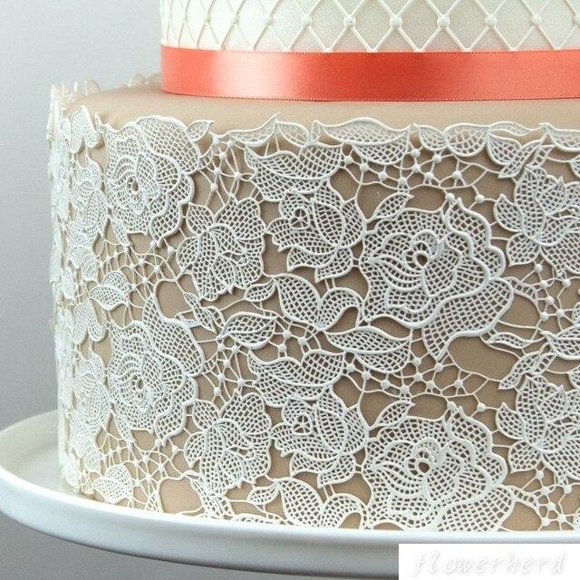 Rose Silicone Mold Rose Damask Silicone Lace Mat Fondant Cake Mould Cake Decorating Tool Sugar Dress Chocolate Gumpastes Tools
