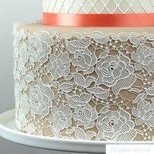 Rose Silicone Mold Rose Damask Silicone Lace Mat Fondant Cake Mould Cake Decorating Tool Sugar Dress Chocolate Gumpastes Tools цена
