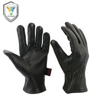 OZERO Men S Work Gloves Goat Leather Security Protection Safety Stamping Brand Cutting Workers Welding Moto