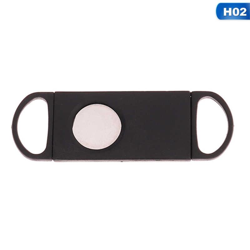 1 шт двойные ножи из нержавеющей стали посеребренный сигарный резак карман гаджеты сигары ножницы