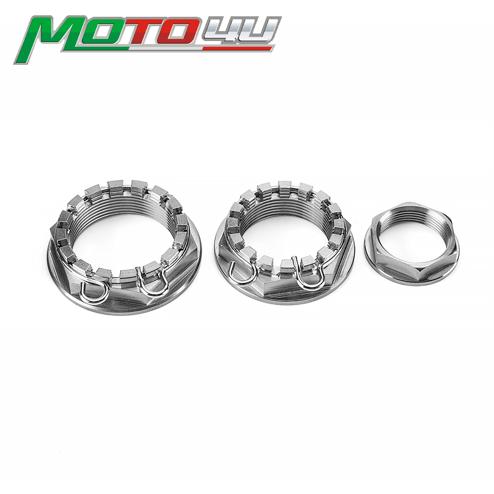 MOTO4U Titanium Alloy Front Rear wheel axle nut CNC Racing for Ducati Monster Silver