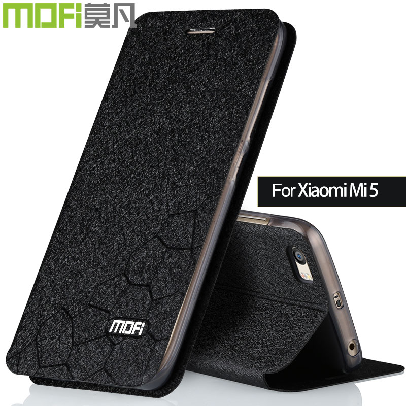 Xiao mi 5 étui mi 5 housse Xiao mi 5 étui en cuir funda xio mi 5 couverture dos en silicone mofi original noir or pour fille