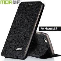 Xiaomi mi 5 Чехол mi 5 Чехол Xiaomi mi 5 Чехол Funda кожа xio mi 5 чехол силиконовый задний чехол mofi оригинальный черный золотой для девочки