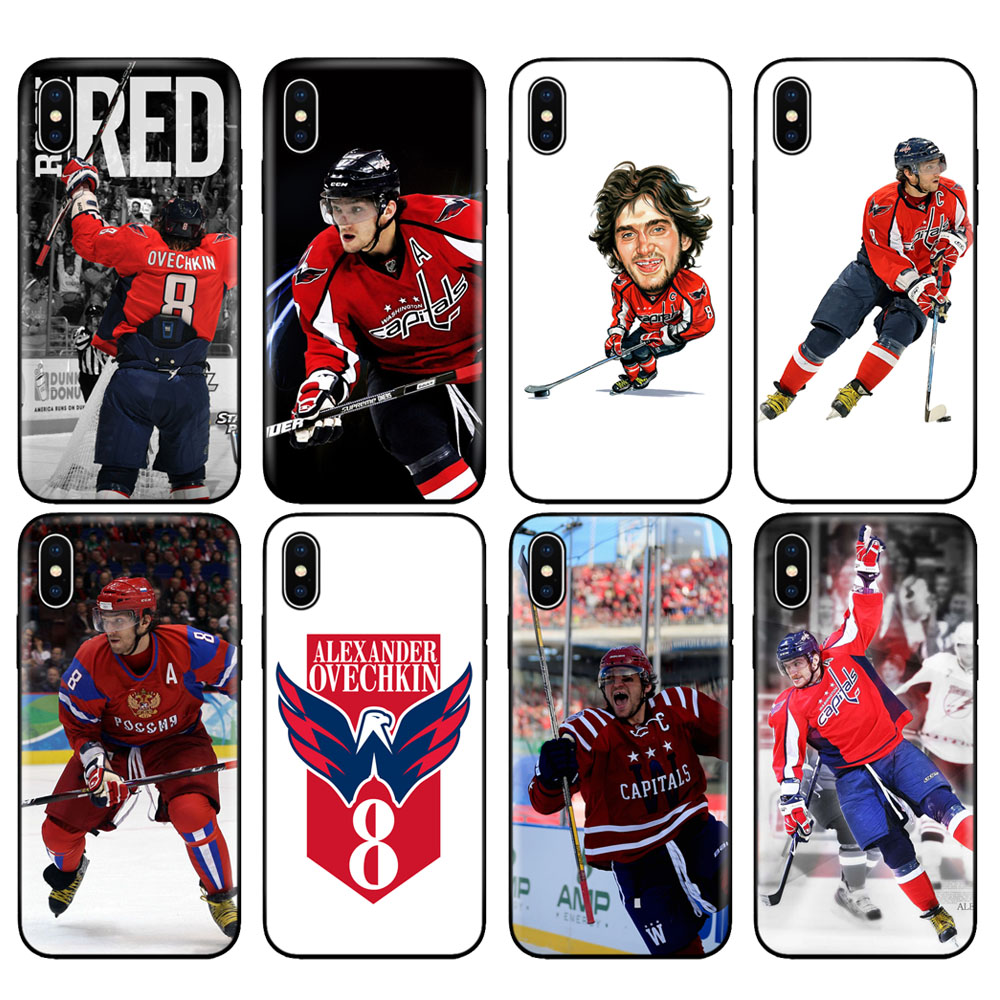 Black tpu case for iphone 5 5s se 6 6s 7 8 plus x 10 case silicone cover for iphone XR XS 11 pro MAX case alexander ovechkin(China)