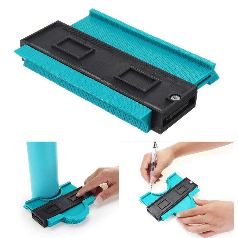 "120mm Profile Contour Gauge Plastic Copy Gauge Standard 5"" Template Width Wood Marking Tool Tiling Laminate Tiles General Tools"